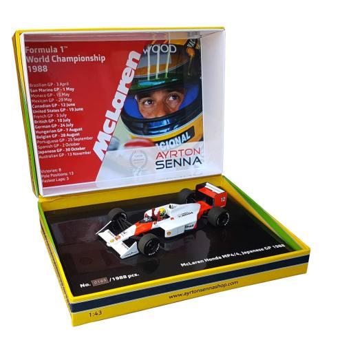 Modellino Minichamps 143 Ayrton Senna McLaren Honda MP44 Formula 1 Japan GP 1988
