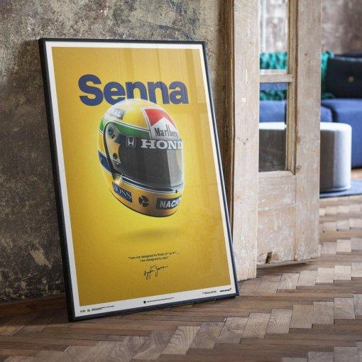 Poster Ayrton Senna Helmet San Marino GP 1988 McLaren MP44 50x70cm 3
