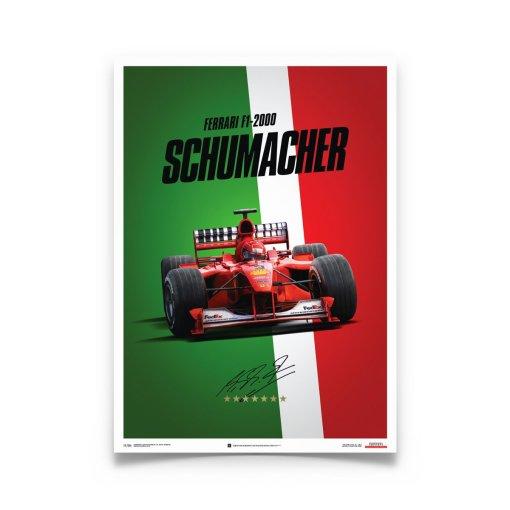 Poster Michael Schumacher Ferrari F1 2000 Monza Gp 4