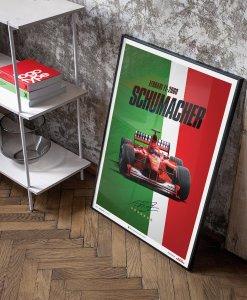 Poster Michael Schumacher Ferrari F1 2000 Monza Gp 5