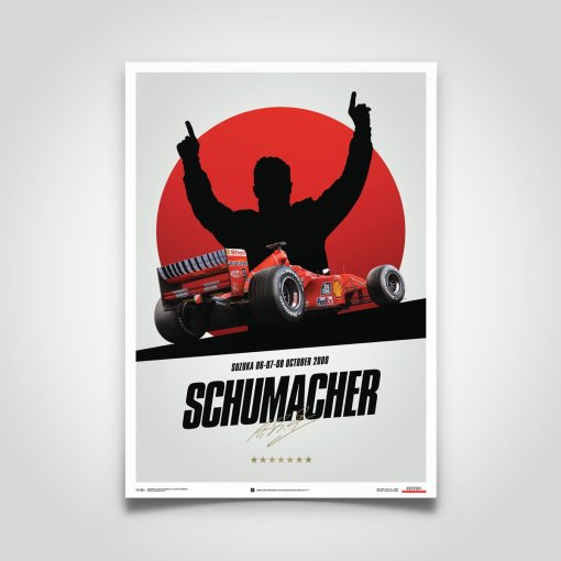 Poster Michael Schumacher Japan Suzuka GP 2000 50x70cm 6