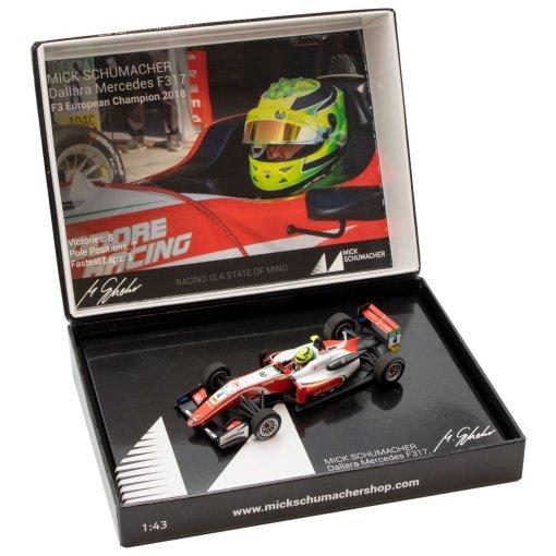 Modellino Auto F3 Minichamps 143 Dallara Mercedes F317 Mick Schumacher 2018 2