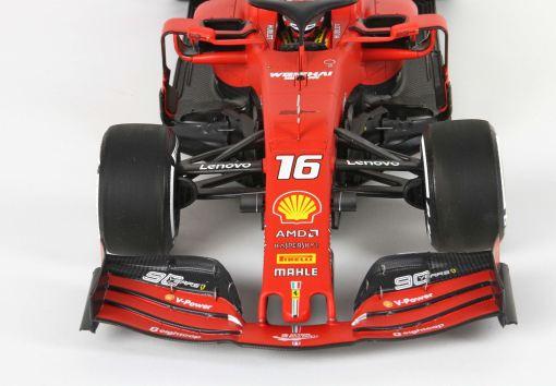 Modellino F1 Bbr Models 118 Ferrari SF90 C. Leclerc Australian GP 2019 anteriore