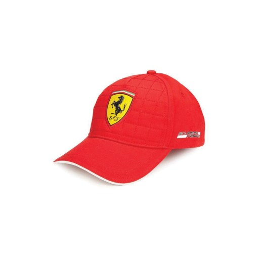 Cappellino Ferrari Trapuntato Rosso