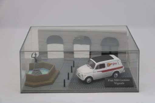 Hachette 143 Fiat 500 Gamine Vignale DIORAMA 1