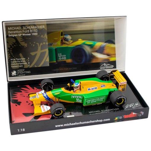 118 Michael Schumacher Benetton Ford B192 Belgian GP Winner 1992