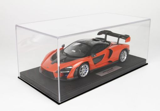 McLaren Senna 118 BBR Models Made in Italy Resin Include plexiglass case e box Limited edition 30 pcs 5
