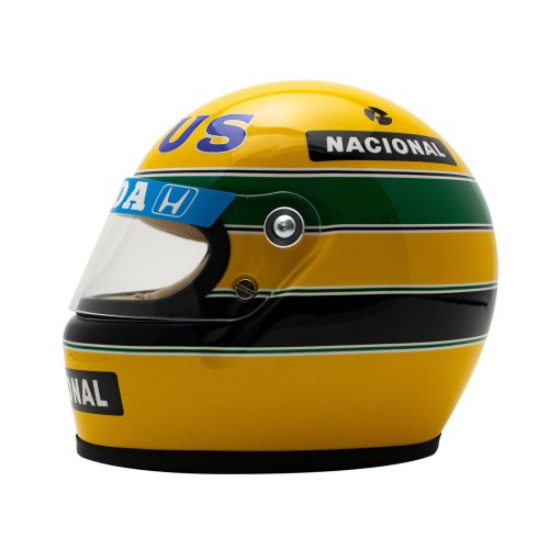 Mini Helmet Ayrton Senna Formula Uno 1987 Lotus scala 12 alterale 2