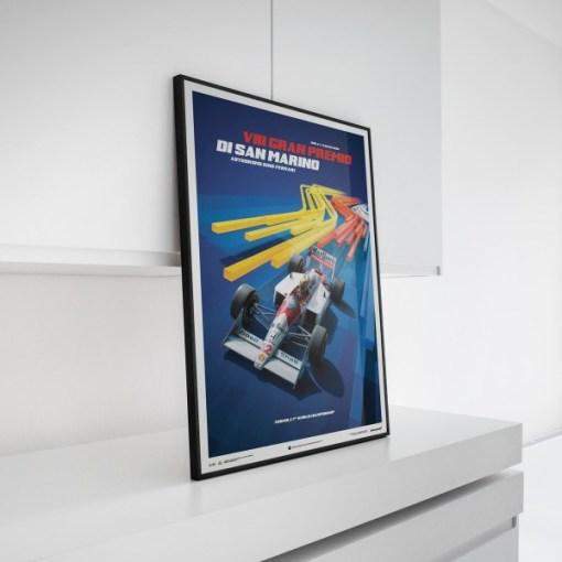 Ayrton Senna F1 San Marino Poster McLaren MP44 5