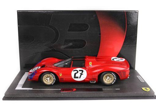 BBR 143 Ferrari 330 P3 Spider 24h Le Mans 1966 LATERALE BOX