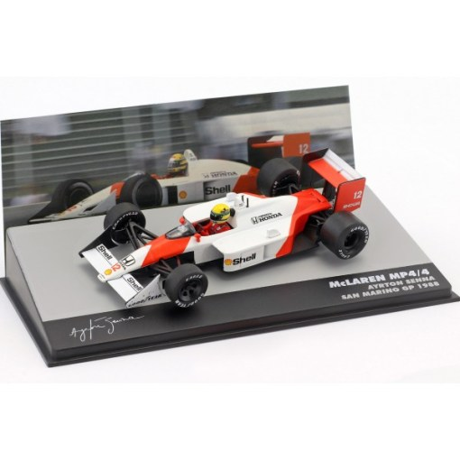 Modellino Atlas 143 Ayrton Senna McLaren MP44 12 Winner San Marino GP F1 1988