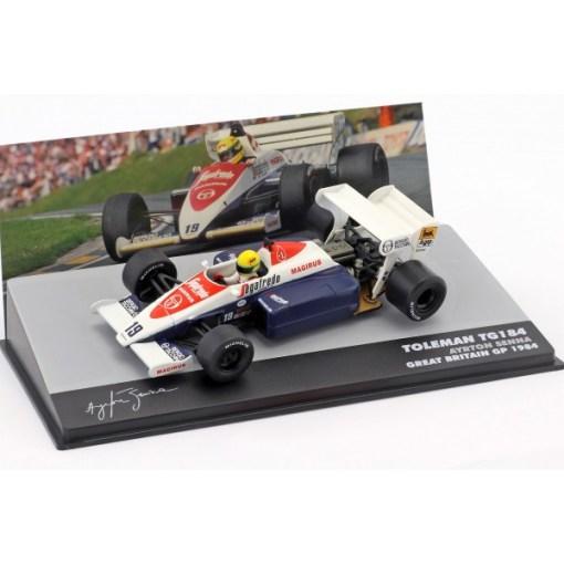 Modellino Atlas 143 Ayrton Senna Toleman TG184 19 3rd United Kingdom F1 GP 1984