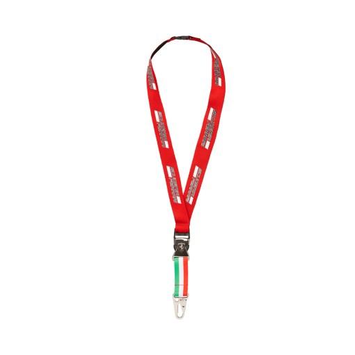 Portachiavi da collo con moschettone Scuderia Ferrari Rosso