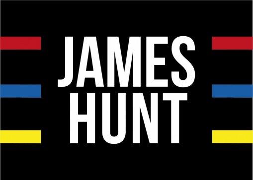 Bandiera livrea casco James Hunt 1976