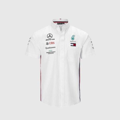 Camicia Team F1 Mercedes AMG Petronas Uomo Bianca