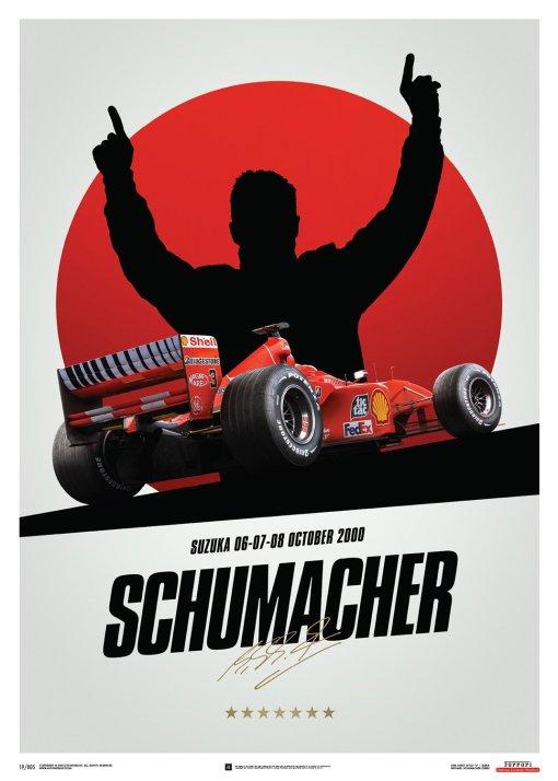 Poster Michael Schumacher Japan Suzuka GP 2000