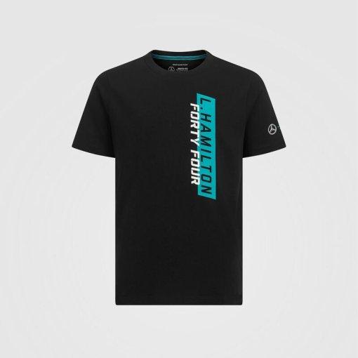 T shirt Bambino Mercedes AMG Petronas 44 Lewis Nera