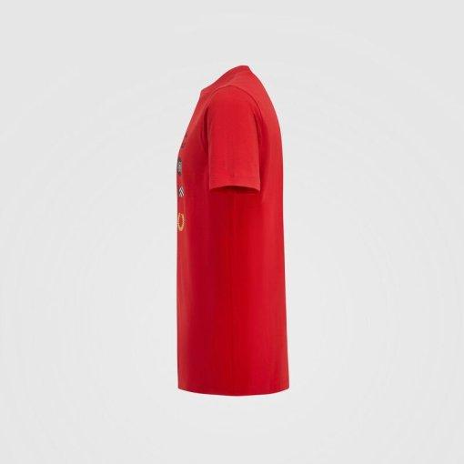T shirt Bambino Scuderia Ferrari Grafica F1 lato 2