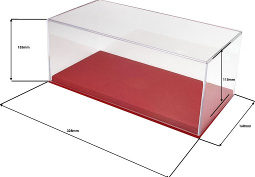 Vetrina Con Base In Alcantara Cucitura Rossa 4 Pcs Box misure