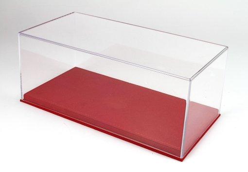 Vetrina Con Base In Alcantara Cucitura Rossa 4 Pcs