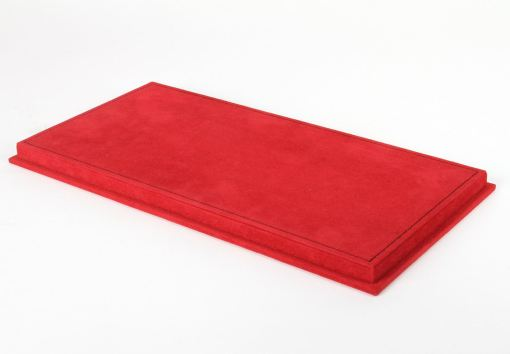 Vetrina BBR con base alcantara rossa cuciture nere 118 r