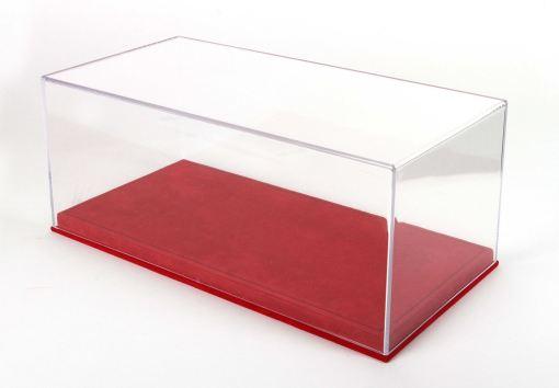 Vetrina BBR con base alcantara rossa cuciture nere 118