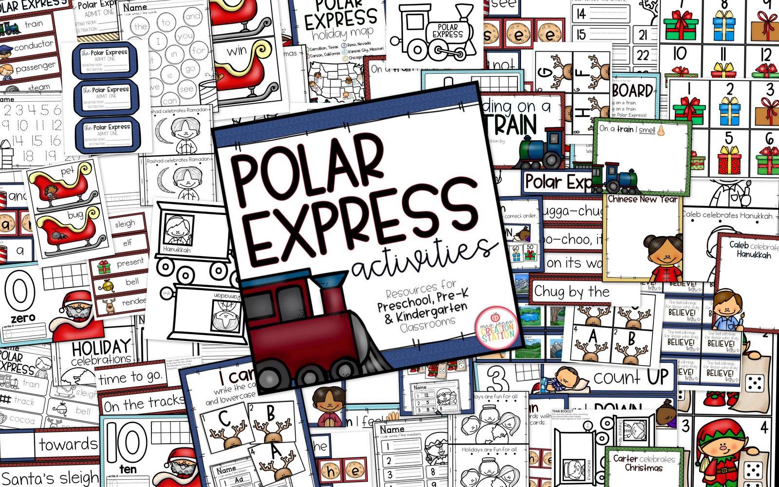 Polar Express Unit For Preschool Pre K And Kindergarten
