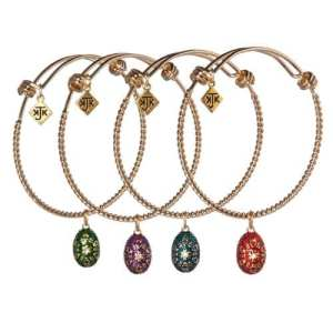 Custom Egg Charm Bangle by KJK Jewelry