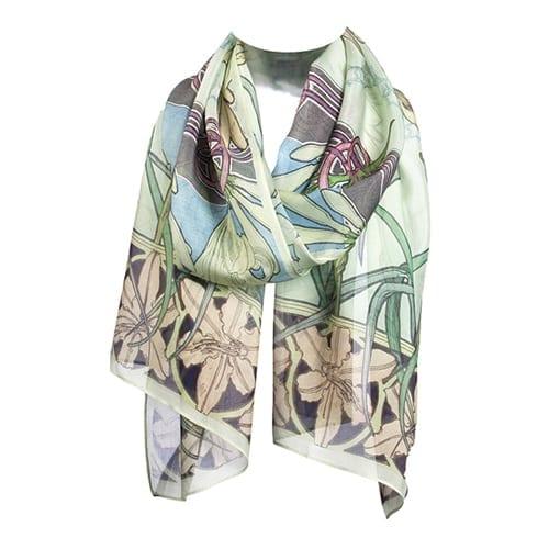 Mucha-inspired Silk Scarf