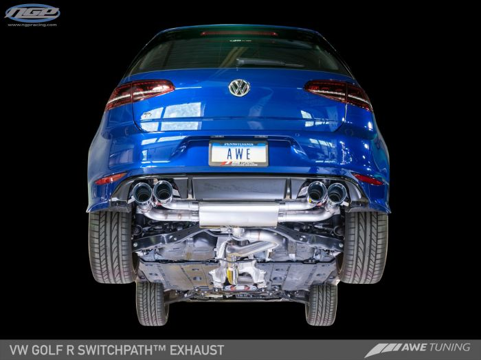 awe tuning mk7 golf r switchpath exhaust suite