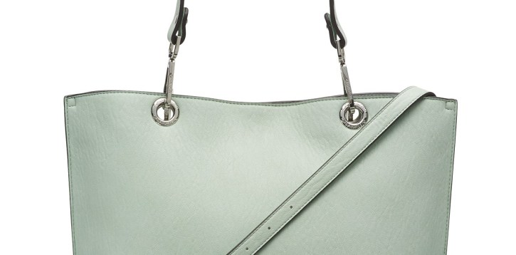 CALVIN KLEIN Sonoma Reversible Novelty Tote + Zip Pouch Crossbody Light Green