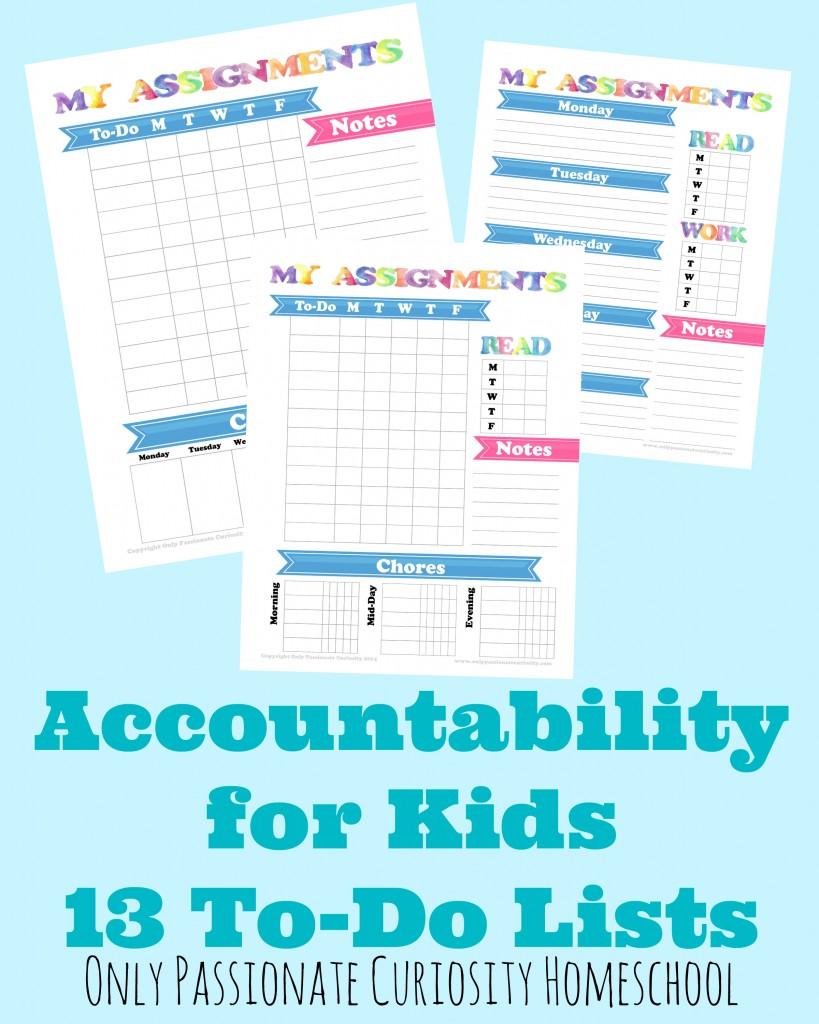 Accountability Pack 13 To Do List Printables