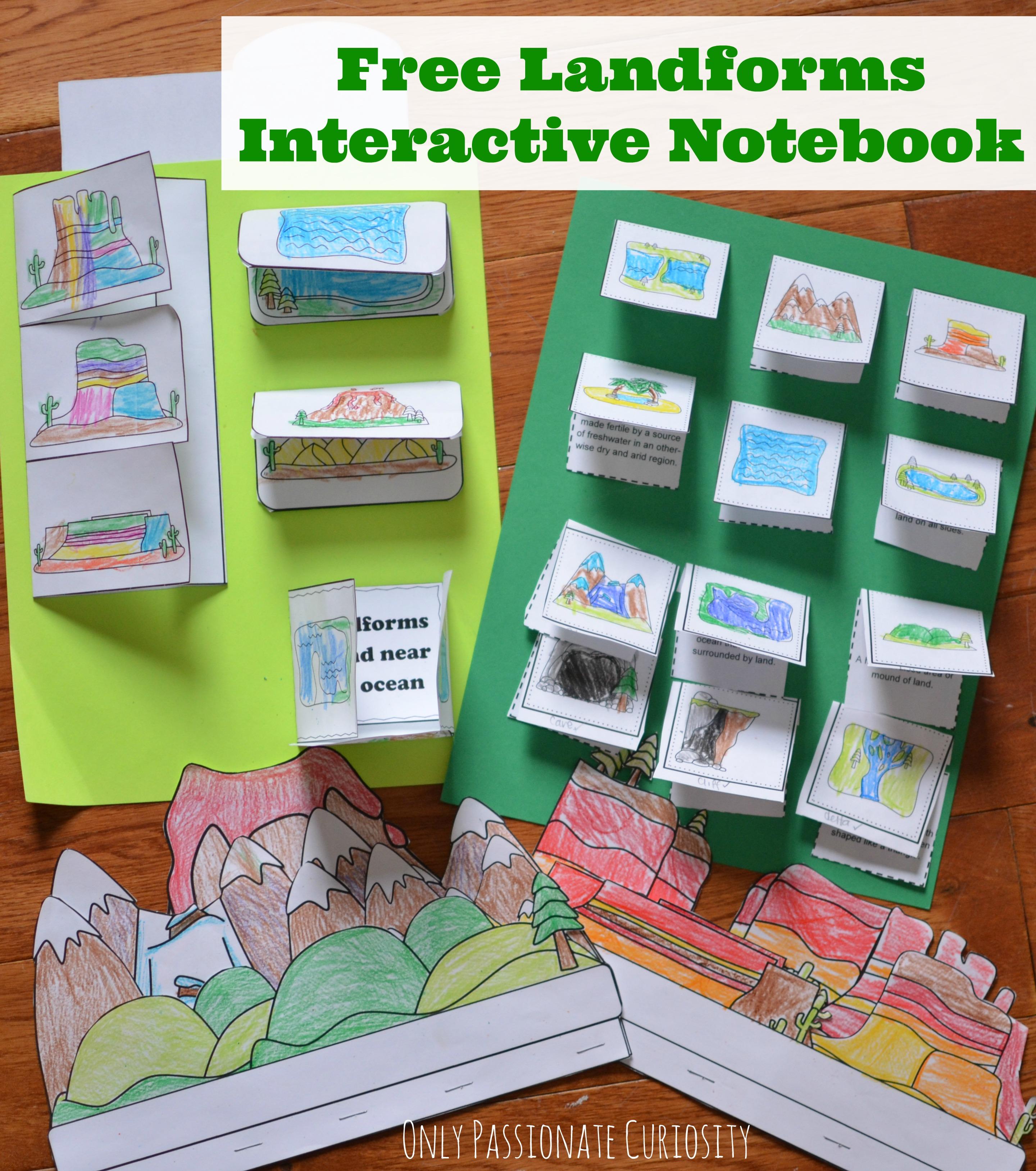 Landforms Interactive Notebook