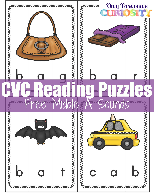 Cvc Puzzles Middle Letter A