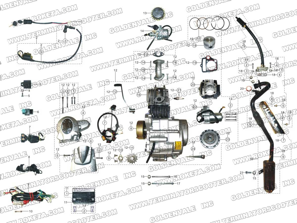 Chopper Wiring Diagram For 49cc Engine With Mimi