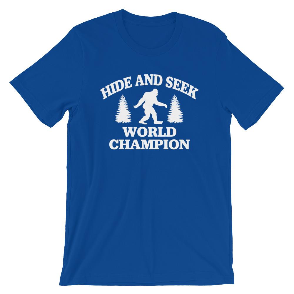 Bigfoot Hide And Seek Champion T Shirt