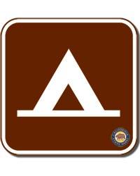 Camp Sign Square Magnet