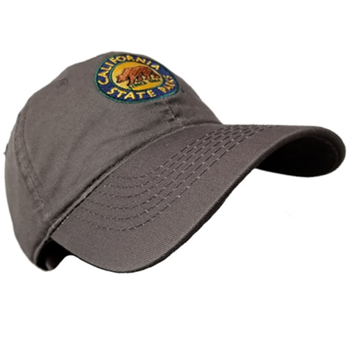 California State Park Embroidered Hat, Charcoal Grey