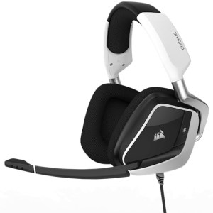 auricular  corsair void usb pro rgb gaming pc dolby 7.1 blanco/negro