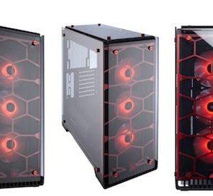 caja  atx semitorre corsair crystal 570x rgb roja  cc-9011111-ww