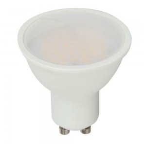 bombilla led gu10 v-tac 7w>>45w luz  natural 500lm regulable dim 110grs wide 1670