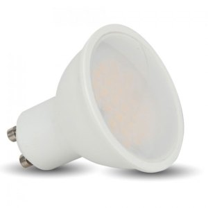 bombilla led gu10 v-tac 5w>>40w luz natural 320lm 110grs wide l1686