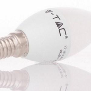 bombilla led e14 vela v-tac 6w>>40w luz calida 470lm l4215