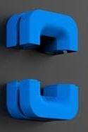 organizador cables auriculares puck metalico imantado azul nzxt