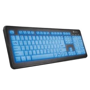 teclado  ngs  bluelagoon slim multimedia retroiluminado usb