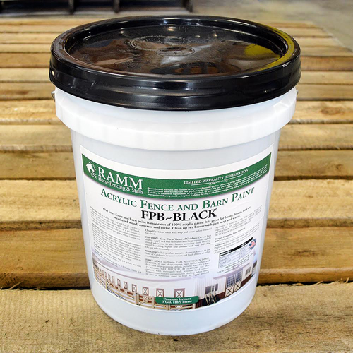 Black Acrylic Fence And Barn Paint RAMM Horse Fencing