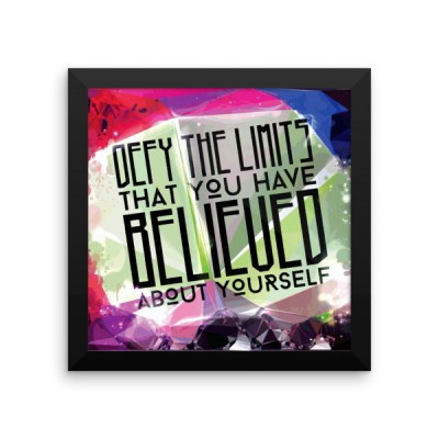 Defy Your Limits – Framed Poster