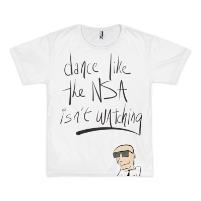 Dance like the NSA Isn't Watching – short sleeve all over t-shirt (unisex)