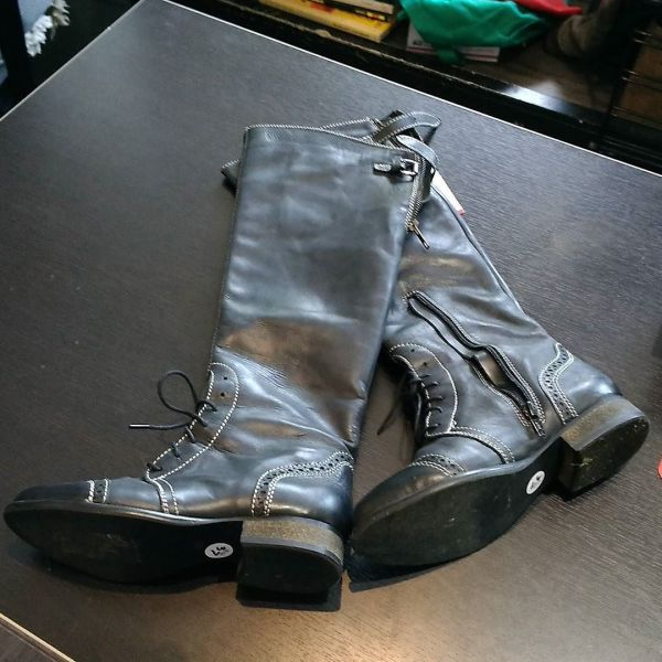 UNBRANDED Leather Equestrian Fashion BOOTS 12937