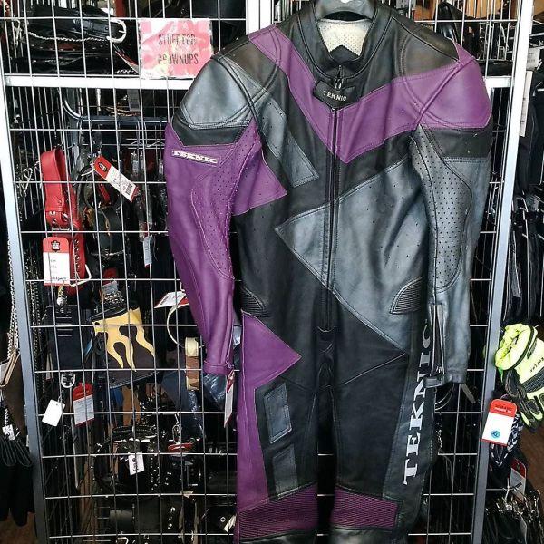 "TEKNIC Leather One Piece RACE SUIT 12953 ( Size 38"" Chest )"
